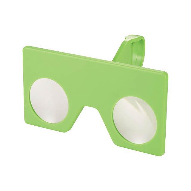 Mini virtuální brýle s klipem - citrónová - limetková