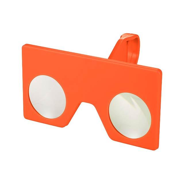 Mini virtuální brýle s klipem - oranžová
