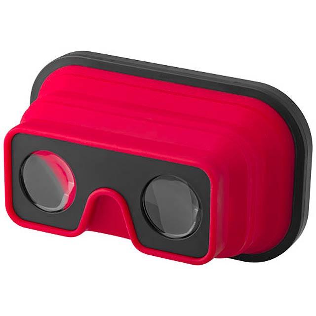 Skládací silikonové brýle pro virtuální realitu - červená