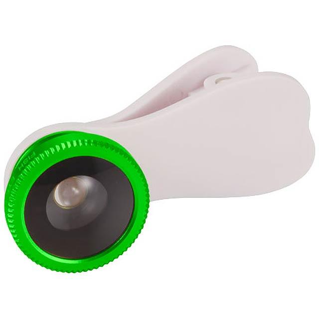 Čočka s efektem rybího oka s klipem - citrónová - limetková