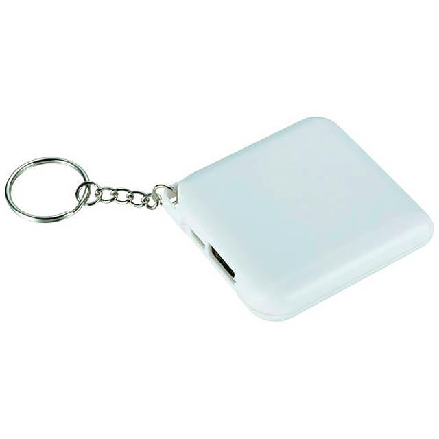 Powerbanka 1800 mAh Emergency jako přívěsek na klíče - biela
