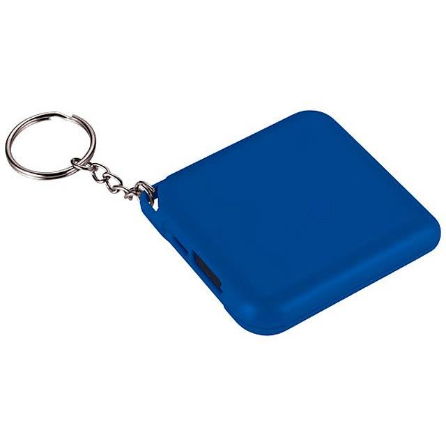 Powerbanka 1800 mAh Emergency jako přívěsek na klíče - kráľovsky modrá