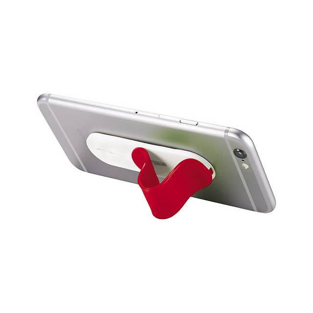 Stojánek na telefon Compress - transparentní červená