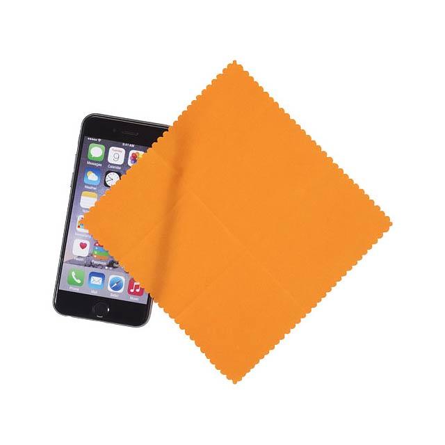 Čisticí utěrka z mikrovlákna v pouzdře - oranžová