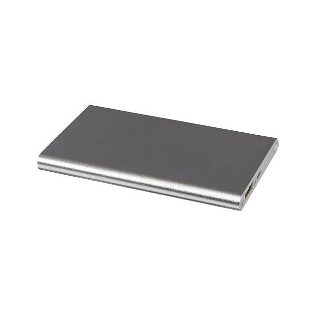 Hliníková powerbanka Pep 4 000 mAh - stříbrná