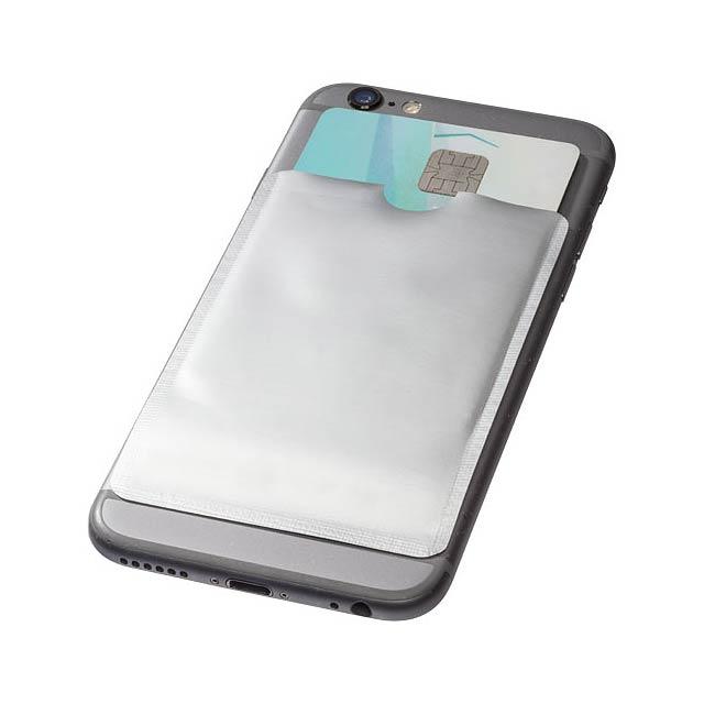 Pouzdro na karty RFID k chytrému telefonu - stříbrná