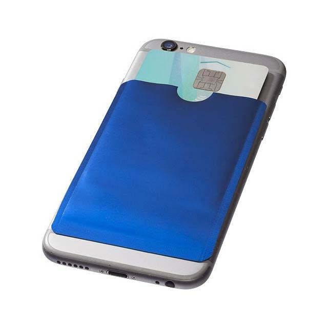 Pouzdro na karty RFID k chytrému telefonu - modrá