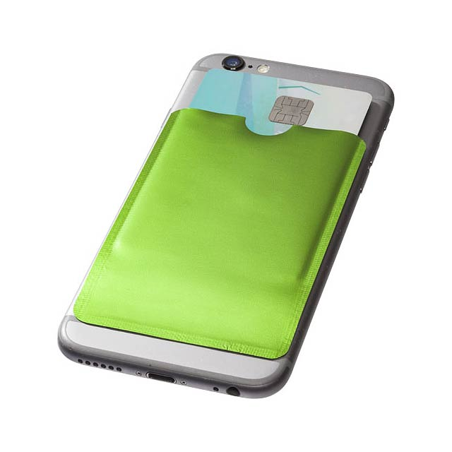 Pouzdro na karty RFID k chytrému telefonu - citrónová - limetková