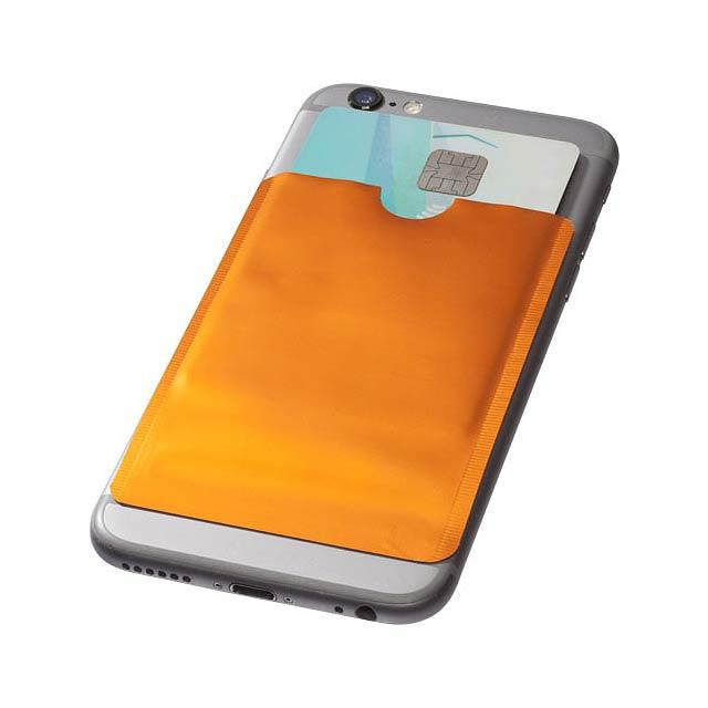 Pouzdro na karty RFID k chytrému telefonu - oranžová