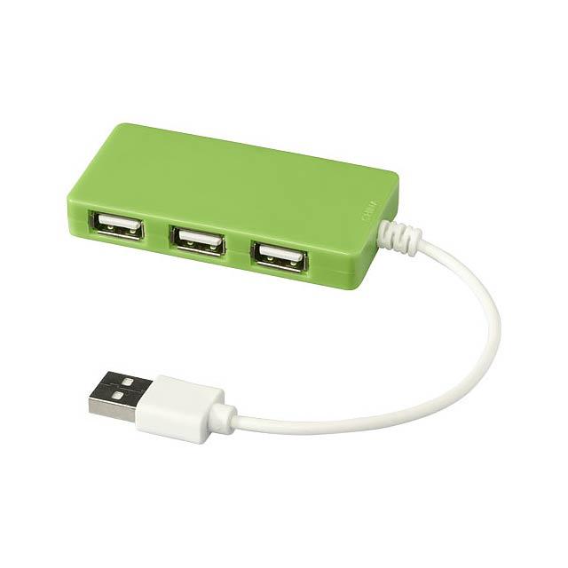 Rozbočovač USB Brick USB - citrónová - limetková