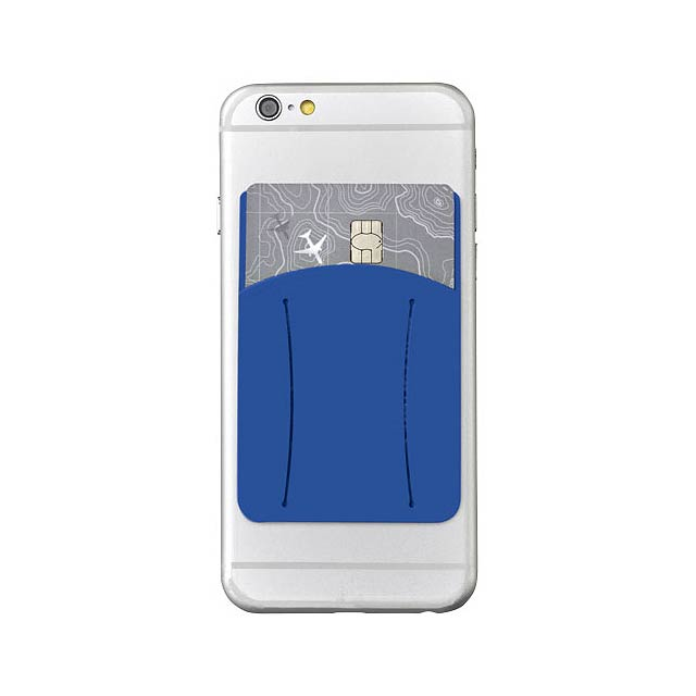 Silikonové pouzdro na kartu k telefonu - modrá