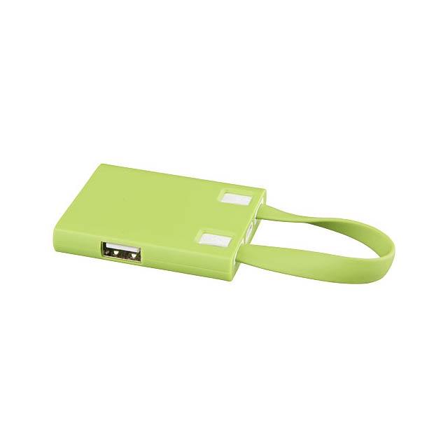 USB rozbočovač & kabely 3 v 1 - citrónová - limetková