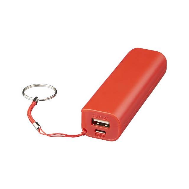 Powerbanka Span 1200 mAh - transparentná červená