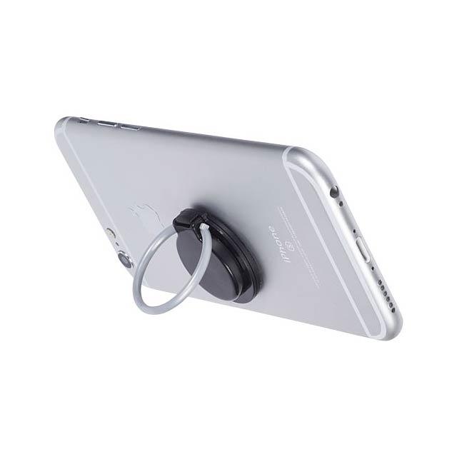 Kroužek a držák telefonu Loop - černá