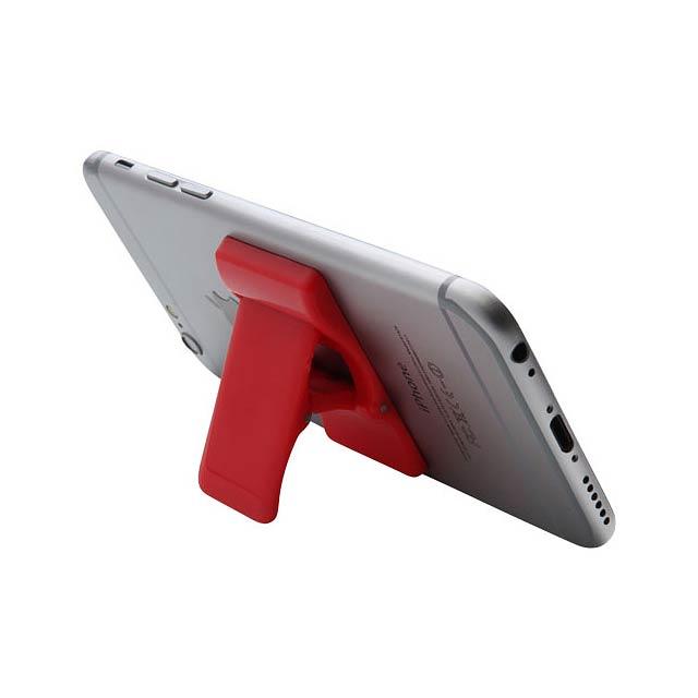 Držák / stojan na telefon Prone - transparentní červená