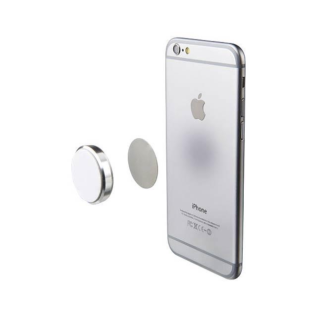 Magnetická přilnavá podložka pro telefon - stříbrná
