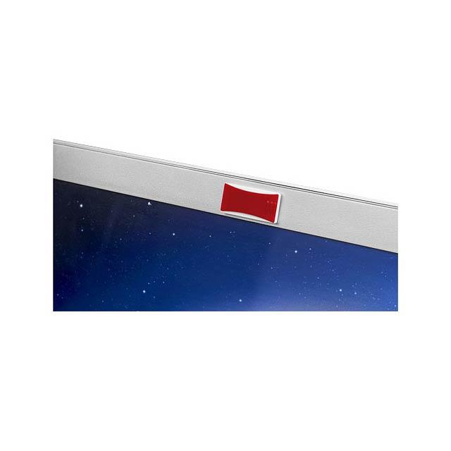 Blokovací clona kamery - transparentní červená