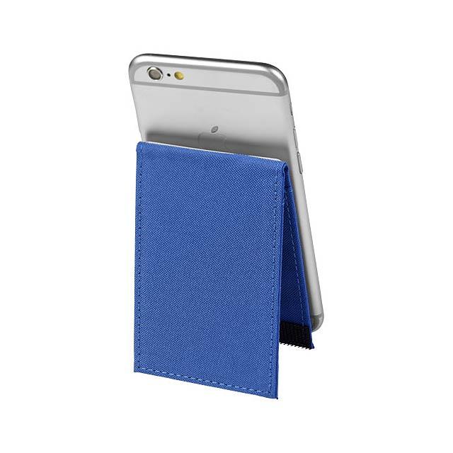Telefonní pouzdro na karty Pose s RFID se stojánkem - modrá