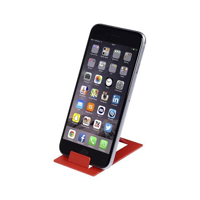 Hold skládací stojánek na telefon - transparentní červená