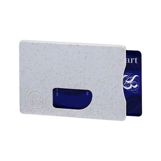 Straw RFID pouzdro na karty - šedá