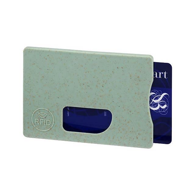 Straw RFID pouzdro na karty - zelená