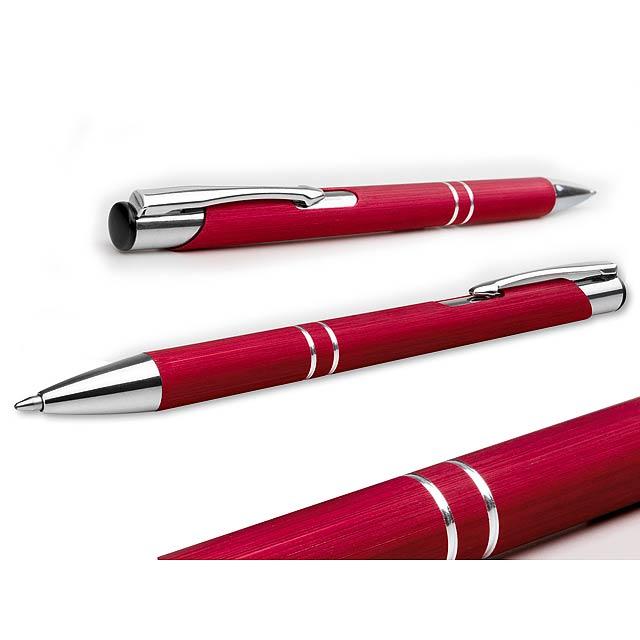 OLEG BRUSH - kovové kuličkové pero - červená