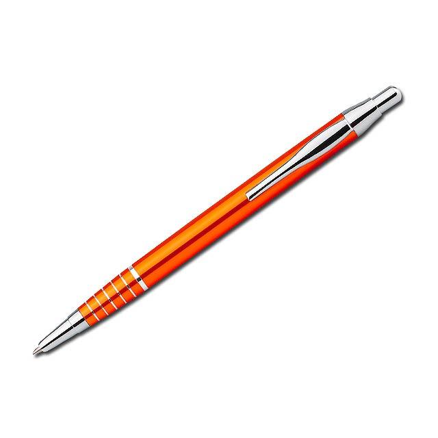 BELA - kovové kuličkové pero - oranžová