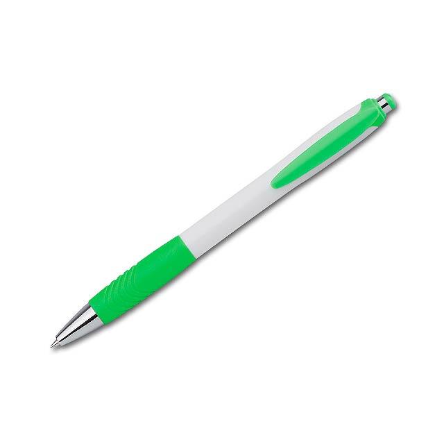 ABISKO - plastové kuličkové pero - zelená