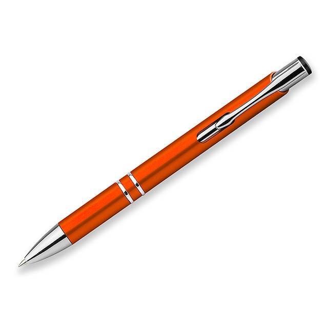 OLEG PLASTIC plastové kuličkové pero, modrá náplň, Oranžová - oranžová