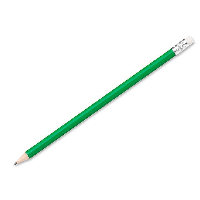 FREJA - Bleistift mit Radiergummi, gespitzt - Grün