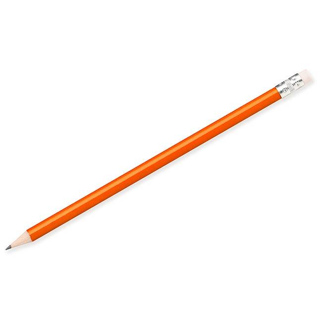 FREJA - Bleistift mit Radiergummi, gespitzt - Orange