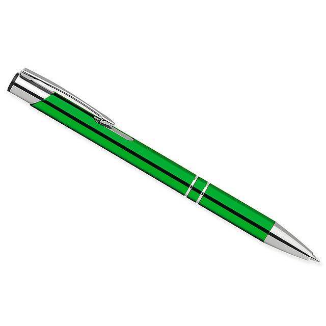 OLEG - Metallkugelschreiber mit blauschreibender Mine - Grün