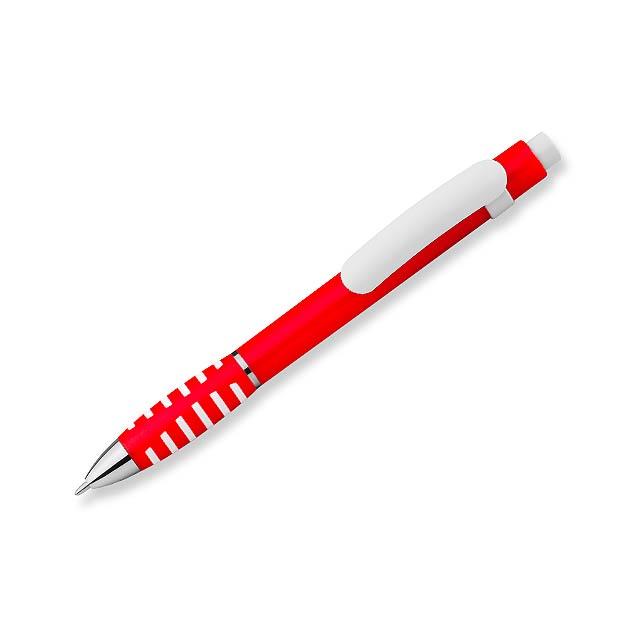 LATIFA - plastové kuličkové pero - červená