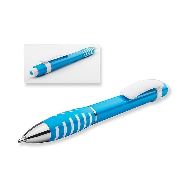 LATIFA - plastové kuličkové pero - modrá