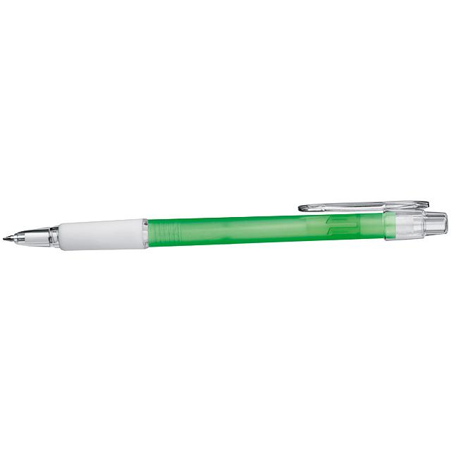 Kugelschreiber mit Gummimanschette - Grün
