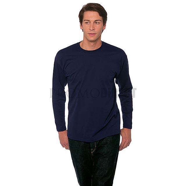 Fruit of the Loom - Pánské tričko s dlouhým rukávem - modrá