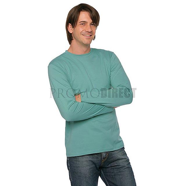 B&C - Pánské tričko s dlouhým rukávem - šedá