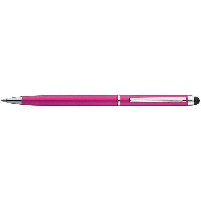 Plastové kuličkové pero - růžová