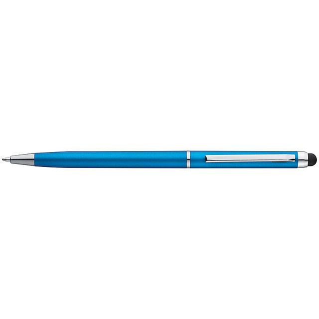 Plastové kuličkové pero - nebesky modrá