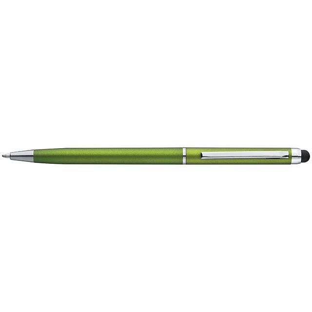Plastové kuličkové pero - citrónová - limetková