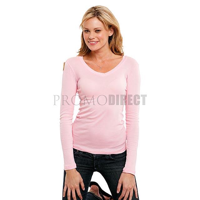 Bella - Dámské tričko s dlouhým rukávem - bílá