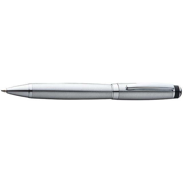 Kovové guľôčkové pero - šedá