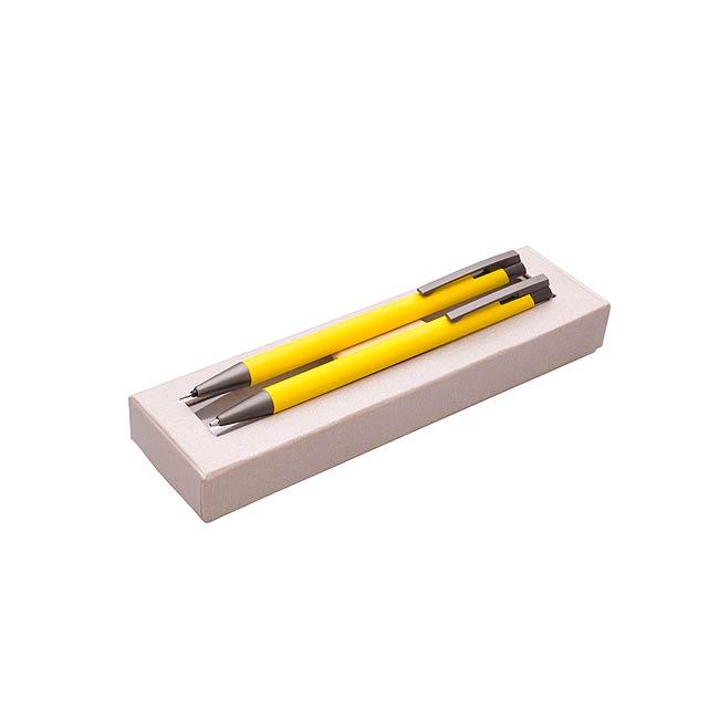 Dárková sada kov ARMI - žlutá