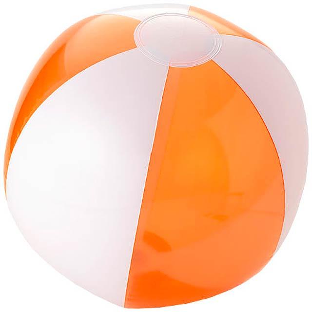 Bondi pevný průhledný plážový míč - transparentní oranžová