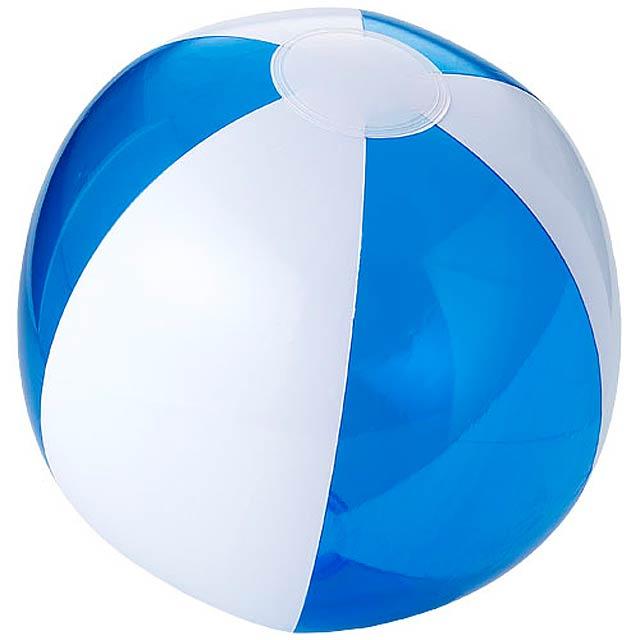 Bondi pevný průhledný plážový míč - transparentní modrá