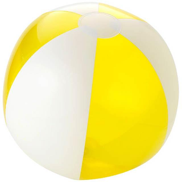 Bondi pevný průhledný plážový míč - transparentní žlutá
