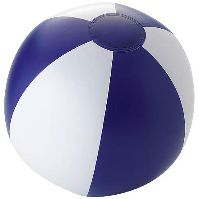 Pevný plážový míč Palma - bílá/modrá