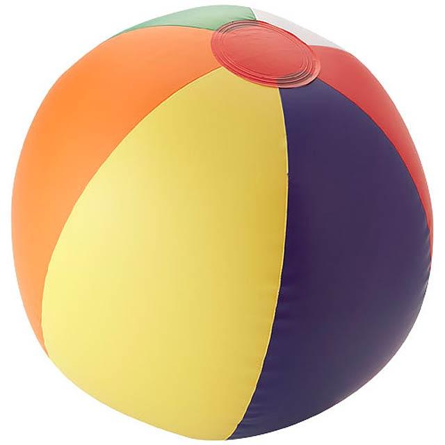 Pevný plážový míč Rainbow - multicolor