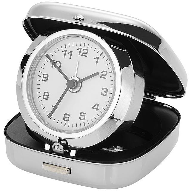 Alarm Clock in a box - silver