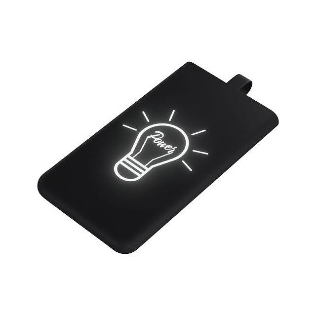 Powerbanka se světelným logem SCX.design P06 - černá